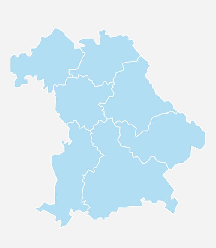 Bayernkarte Bezirksgruppen