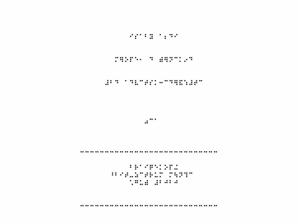 Titelbild Merope das Sternenkind in Braille